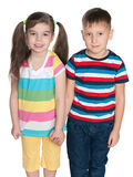 Rozważni małe dzieci fotografia royalty free
