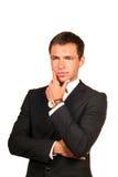 rozważny biznesowy przystojny mężczyzna obraz royalty free