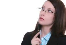 Rozważny bizneswoman Obrazy Stock