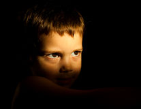 rozważny dziecko portret Obraz Royalty Free