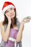 rozważny dziewczyna pieniądze Zdjęcia Stock