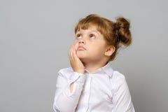 rozważny mały dziewczyna portret Obraz Stock