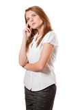 Rozważna biznesowa kobieta Zdjęcie Royalty Free