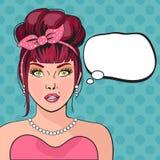 Rozważna kobieta z otwartym usta royalty ilustracja