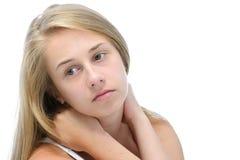 Rozważna nastoletnia dziewczyna Zdjęcie Royalty Free