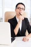 Rozważny bizneswoman. Fotografia Stock