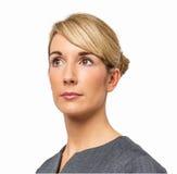 Rozważny bizneswoman Patrzeje Daleko od Obraz Stock