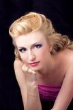 rozważny blondynka portret Zdjęcia Stock