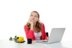 rozważny dziewczyny biuro Obraz Stock