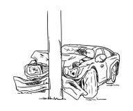 rozwalony samochód Obraz Royalty Free