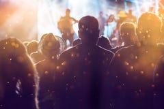 Rozweselać tłumu przy koncertem Obraz Stock