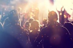 Rozweselać tłumu przy koncertem Zdjęcia Stock
