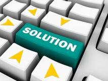 Rozwiązanie na klawiaturze, biznesowy pojęcie Zdjęcia Stock