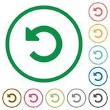 Rozwiązuje zmiany zarysowywać płaskie ikony Zdjęcie Royalty Free