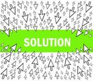 rozwiązanie Ilustracja Wektor