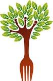 Rozwidlenia drzewa logo ilustracja wektor