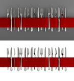 Rozwidlenia i noża sztandar Zdjęcie Royalty Free