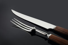 Rozwidlenia nad nóż Zdjęcia Stock