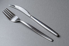 Rozwidlenie i nóż Fotografia Stock