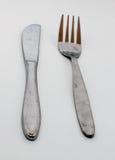 Rozwidlenie i nóż Obraz Royalty Free