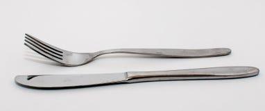 Rozwidlenie i nóż Fotografia Royalty Free