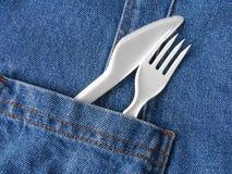 rozwidlenie nóż Obraz Stock