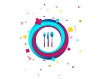 Rozwidlenie, nóż, tablespoon Cutlery set ilustracja wektor