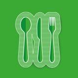 Rozwidlenie, nóż, tablespoon wektoru ikona royalty ilustracja