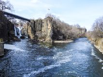 Rozwidlenie Passaic rzeka w Paterson, NJ Obraz Stock