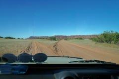 Rozwidlenie w drodze przez afrykanina krajobrazu Zdjęcia Stock