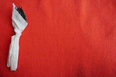Rozwidlenie w papierowym opakunku i łyżka Zdjęcie Stock