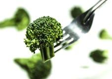 Rozwidlenie z brokułami Obraz Royalty Free