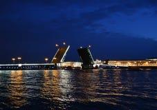 rozwiedziony mosta pałac Obrazy Stock