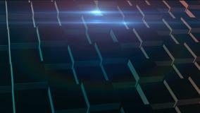Rozwijać 3d ścianę od glansowanego sześcianu w przypadkowym ruchu z dynamicznym światłem zdjęcie wideo