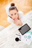 Rozwijać plan biznesowy Zdjęcia Royalty Free
