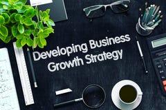 Rozwija Biznesowy Wzrostowy strategii pojęcie 3 d czynią Zdjęcie Royalty Free