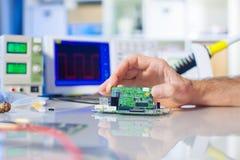 Rozwija elektronika przyrząd zdjęcia stock