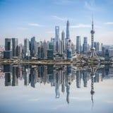Rozwijać miasto w Shanghai Pudong Obrazy Stock