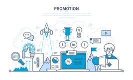 Rozwija się w pracie biznesie i, sukces, promocje, usługa ilustracja wektor
