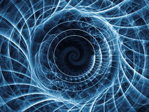 Rozwijać spirala wzór Obraz Stock