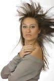 Rozwija włosy dziewczyna Obrazy Royalty Free