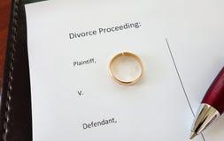 Rozwodowy pierścionek Fotografia Stock