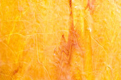 Rozwody i farba kapinosy czerwień, pomarańcze, kolor żółty zamazywali abstrakt obraz stock