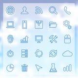 25 rozwojów ikon ustawiających Zdjęcia Stock