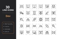 30 rozwojów Kreskowych ikon Zdjęcia Stock