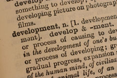 rozwoju biznesu słowo zdjęcie stock