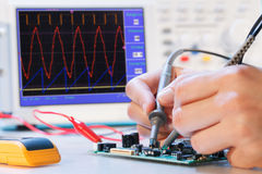 Rozwoju elektroniczny mikro procesor Obraz Royalty Free