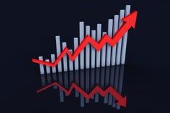 Rozwoju gospodarczego trend strzała Obraz Royalty Free