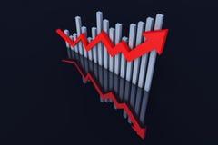 Rozwoju gospodarczego trend strzała ilustracji