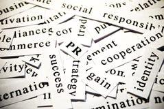 RP. Concept des mots connexes avec des affaires Images libres de droits